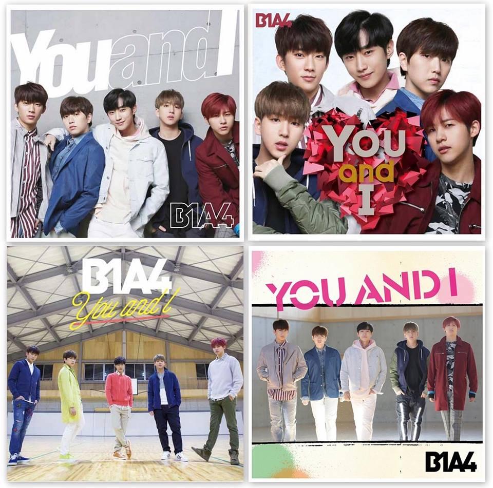 B1A4『YOUandI』』(通常盤/初回限定盤A/初回限定盤B/UNIVERSAL MUSIC STORE限定盤)ジャケット